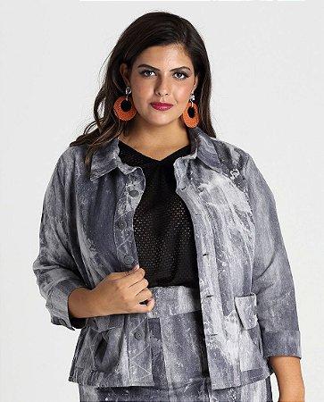 Jaqueta Califórnia estilo tye-dye com bolsos - JAIN1702