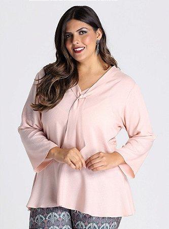 Blusa Altures em viscose com detalhe de laço - BLIN1720