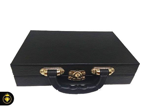 Maleta para jóias pequena modelo luxo