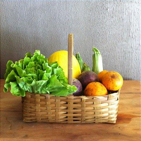 Cesta pequena de produtos orgânicos - 6 itens