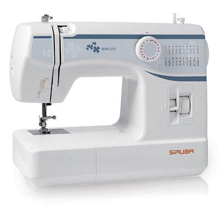 Máquina de Costura Doméstica Siruba HSM2215 Zigue-Zague Mecânica