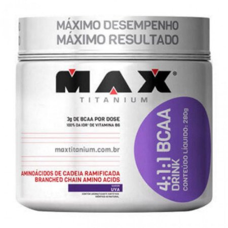 BCAA 2400 200 Cáps - Max Titanium - Unissex - Natural