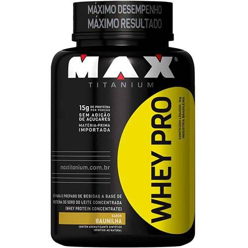 Whey PRO Baunilha 1kg - Max Titanium