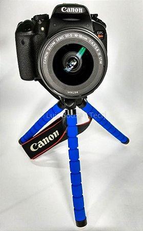 Tripé Flexível Azul 25cm Gorillapod Dslr Entrega Rápida