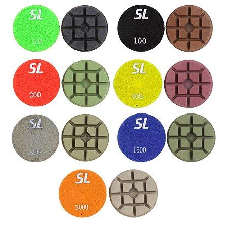 """Lixa para Lapidação e Polimento de Concreto - 80mm - 3"""""""