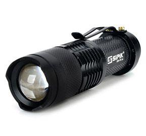 Kit Lanterna Led Tática Ultrafire Sk68+ Carregador + Bateria