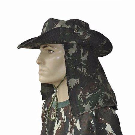 Chapeu Camuflado C/ Proteção