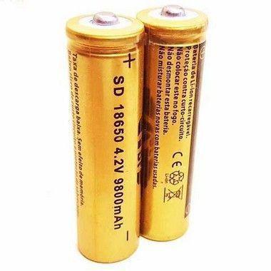 Bateria 18650 Li-ion 3.7v / 4.2v  (unidade)