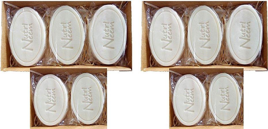 Sabonete com óleo de Neem Nim 100 Gr uso animal Kit com 10 Unidades