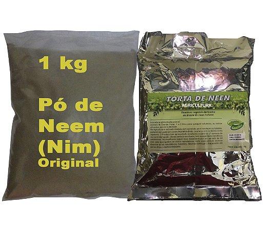 Kit com: 1 Kg De Pó De Nim + 1 Kg De Torta De Neem