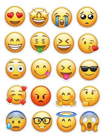 Ímãs Decorativos Emojis Set B - 20 unid