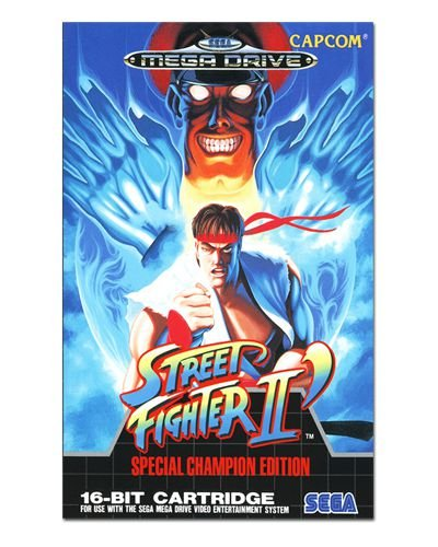 Ímã Decorativo Capa de Game - Street Fighter II - ICG68