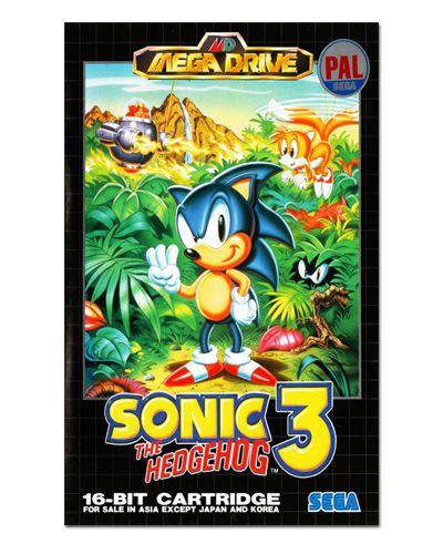 Ímã Decorativo Capa de Game - Sonic 3 - ICG88