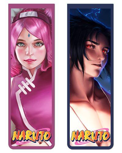 Pack Marcador Magnético - Sasuke e Sakura - Naruto - PKN24