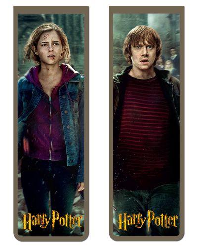 Pack Marcador Magnético - Ron e Hermione - Harry Potter - PKN34