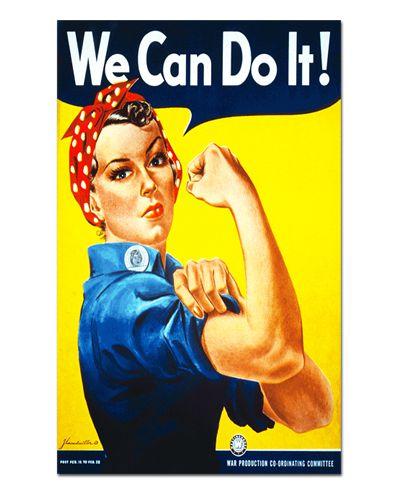 Ímã Decorativo Publicidade We Can Do It - Vintage - IPV21
