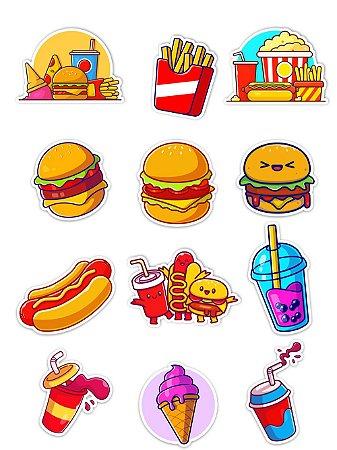 Ímãs Decorativos Fast Food Gourmet Set G - 12 unid