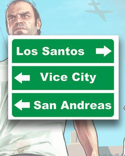 Placa Decorativa - Los Santos - Mapa GTA