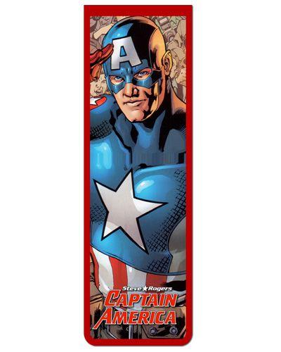 Marcador De Página Magnético Capitão América - CAP01