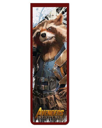 Marcador De Página Magnético Rocket Raccoon - Avengers - MAVI10