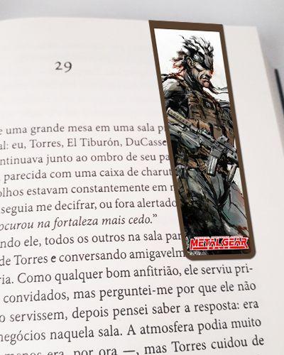 Marcador De Página Magnético Solid Snake - Metal Gear - MMG04