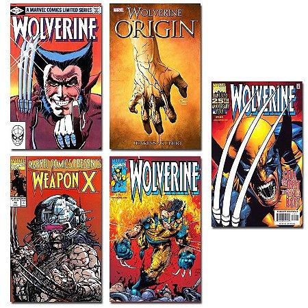 Ímãs Decorativos Capas de Quadrinhos - Wolverine - Pack 10 unid