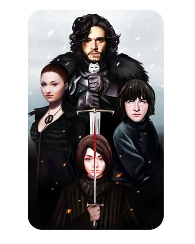 Ímã Decorativo Irmãos Stark - Game of Thrones - IGOT03