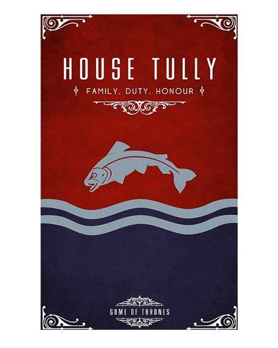 Ímã Decorativo House Tully - Game of Thrones - IGOT38