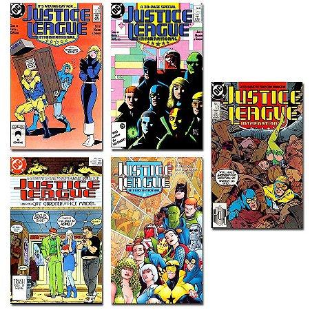 Ímãs Decorativos Capas de Quadrinhos - Liga da Justiça Internacional - Pack 10 unid