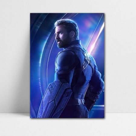 Poster A4 Avengers Infinity War - Captain America