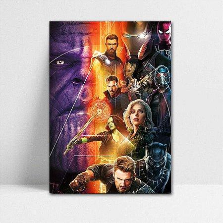 Poster A4 Avengers Infinity War - PAVI12