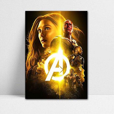 Poster A4 Avengers Infinity War - PAVI19