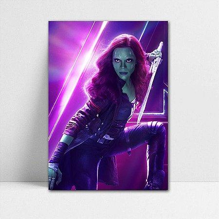 Poster A4 Avengers Infinity War - Gamora