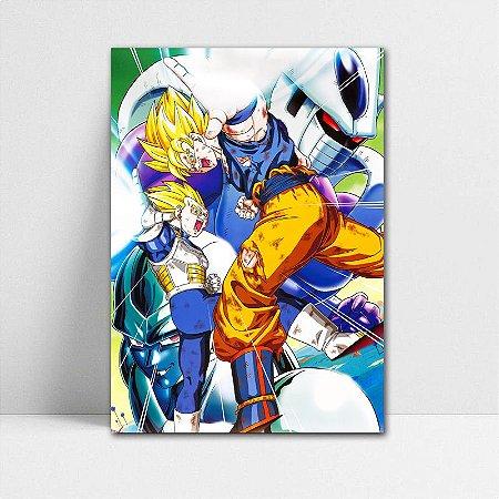Poster A4 Dragon Ball Z - Kakarotto and Prince Vegeta