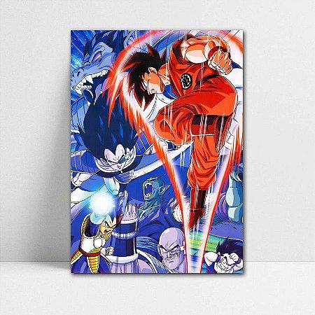 Poster A4 Dragon Ball Z - Goku vs Vegeta