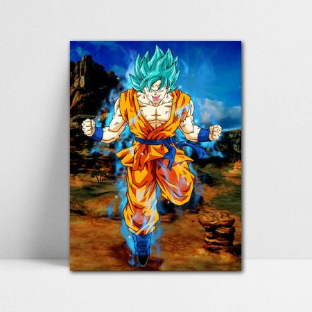 Poster A4 Dragon Ball Super - Goku Blue DBS
