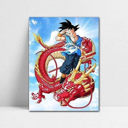 Poster A4 Dragon Ball Z - Goku Red Dragon