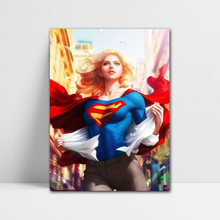 Poster A4 DC - Supergirl Lives