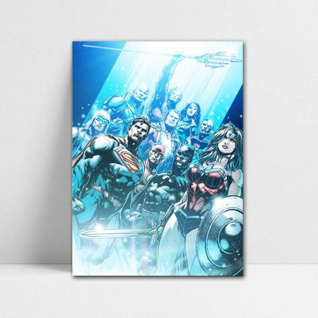 Poster A4 DC - Justice League Team New 52