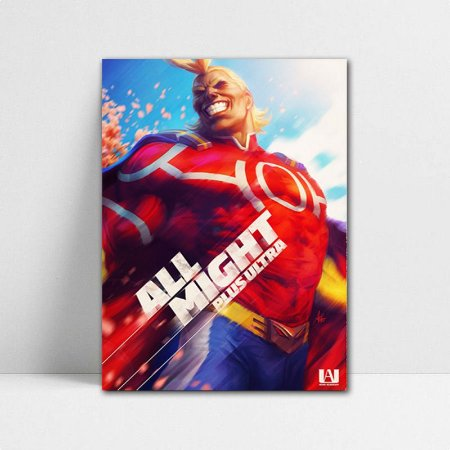 Poster A4 My Hero Academia - All Might
