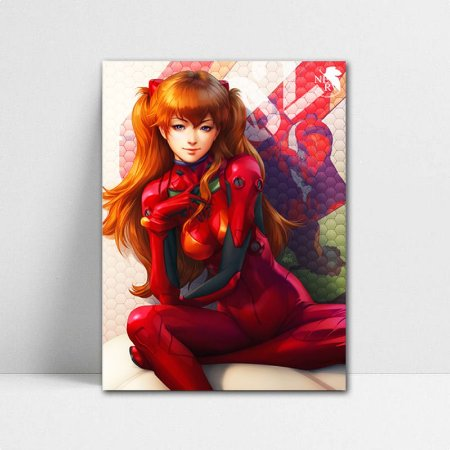 Poster A4 Neon Genesis Evangelion - Asuka Langley