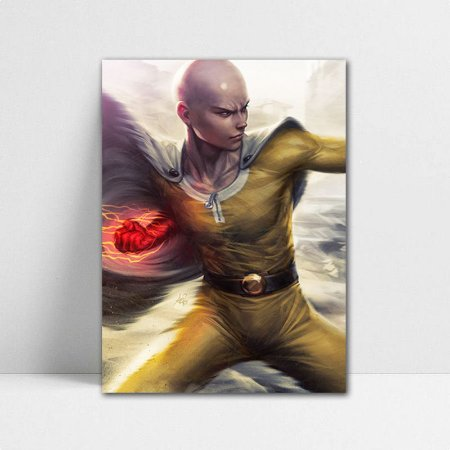 Poster A4 One Punch Man - Saitama Punch