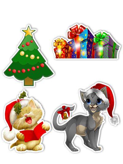 Ímãs Decorativos Natal Set C - 8 unid