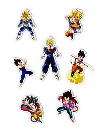 Ímãs Decorativos Dragon Ball Set A - 7 unid