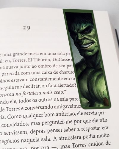 Marcador De Página Magnético Hulk - MMA58
