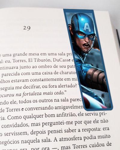 Marcador De Página Magnético Capitão América - MMA67