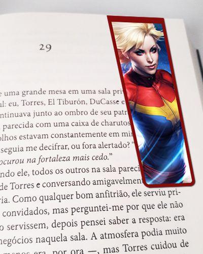 Marcador De Página Magnético Capitã Marvel - MMA77