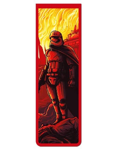 Marcador De Página Magnético Capitã Phasma - Star Wars - MFI08