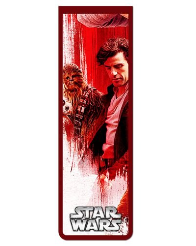 Marcador De Página Magnético Poe e Chewbacca - Star Wars - MFI26