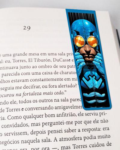 Marcador De Página Magnético Besouro Azul - MDC142